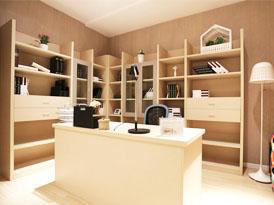 吉哥定制系列-现代简约开放式书柜效果图