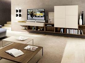 吉哥定制系列-多功能组合客厅电视柜效果图