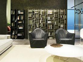 吉哥定制系列-创意简约客厅书柜效果图