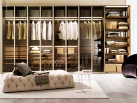 吉哥定制系列-时尚男士玻璃门整体衣柜效果图
