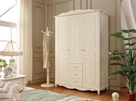 迪凯诺定制系列-欧式白色浪漫平开门衣柜效果图