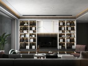 奢匠定制系列-杜莫轻语-客厅效果图