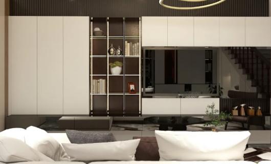 史丹利STANLEY家居全屋定制:高级感客厅 美到惊艳