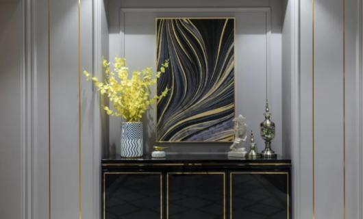 佰丽爱家:190㎡美式新古典风格3居室 将美式元素融入现代古典风格 给人极致优雅唯美的视觉享受