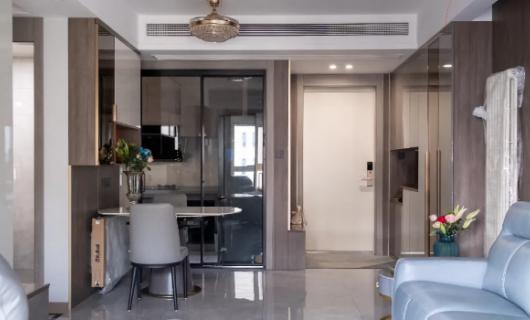 客来福实景案例 年轻夫妇108㎡现代简约温馨住房 独具创新打造空间线条感