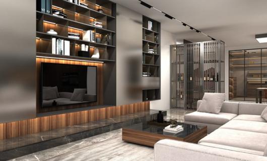 沃的全铝定制:除了地柜式 电视背景墙还可以这么设计