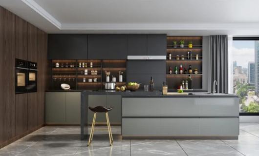 沃的全铝定制:好看耐用的厨房就得这么装
